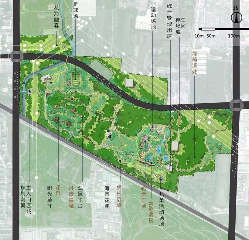 植物的系统层次_朝阳区来广营乡朝来森林公园三期_公共空间_景观案例_园景人