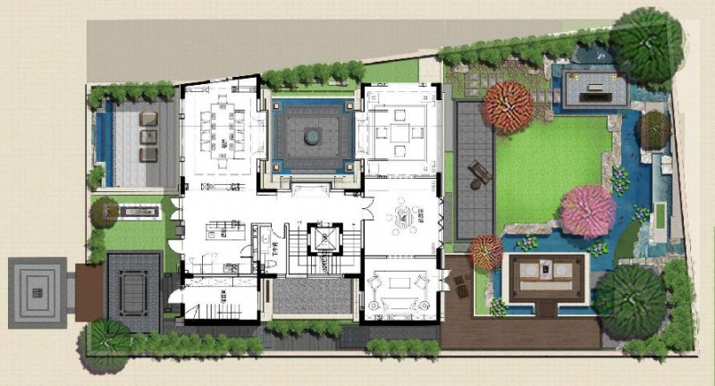 西山龙胤-340庭院平面